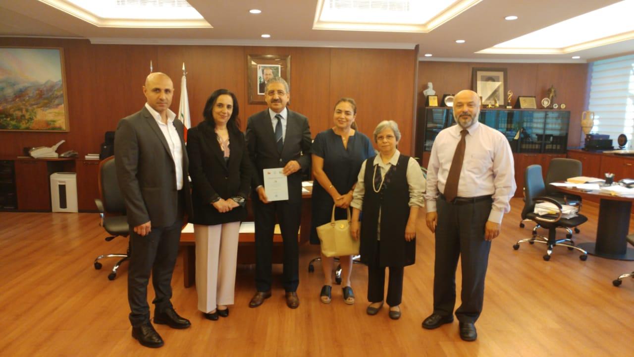 رئيس الجامعة اللبنانية البروفسور فؤاد أيوب يستقبل اللجنة الثقافية في كلية الآداب